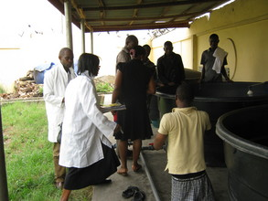 JOB CREATION: Disabled youths man our fish farm.