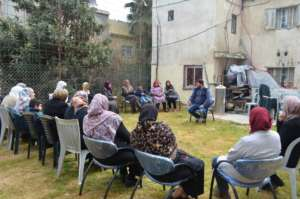 Meeting with participants in Deheishe Camp