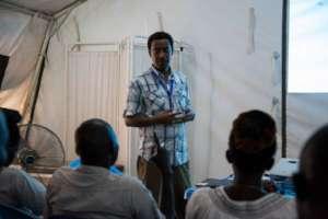 Esubalew conducts a mental health training