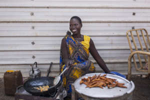 Nyabach's food stall - Photo by Patrick Meinhardt