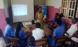 Students in class at the Kajo Keji school