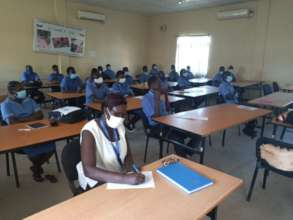 Students at Juba College of Nursing and Midwifery