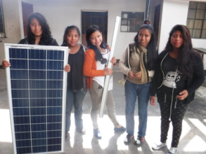 Highschool girls install solar on school 2017