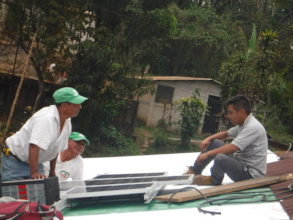 Sta Isabel helps install solar after workshop
