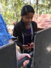 Fatima, 16 year old solar saleswomen and installer