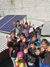 Street School children have stable,solar lighting