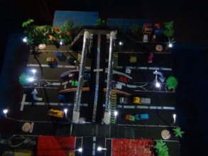 Night view of the model