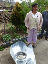 Local leader using solar oven