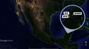 The location of the 3 Mayan communities.