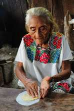 Dona Apolinaria and her new fuel efficient stove
