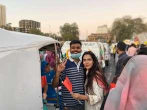 "The rickshaws and team at ""Aurat March"""