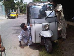 Rickshaw repair