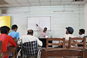 A very attentive class!