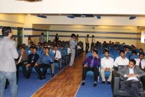 Amin engages with students at BIZTEK University
