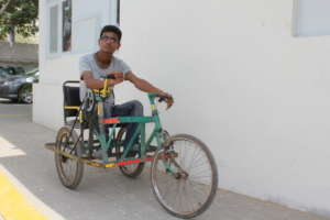 Vishal Kumar's tricycle laden with design defects