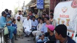 Another 'Baithak' in Baldia Town, Karachi