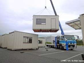 Peace Winds temporary housing in Mashiki.