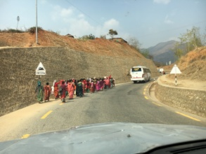 1 of 3 womens' marches on the drive to KTM