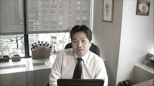 Dr. Chang recording a module