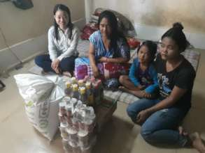 Mrs. Samhoeun received emergency relief support