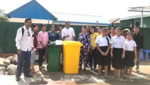 Children initiate to donate rubbish bins