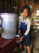 Sreyvan uses water filter offer by Sunshine