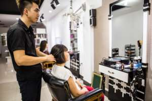 Our social enterprise EM Hair Salon in Hanoi