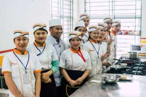 Cooking students