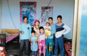 Shang Zhong and his family