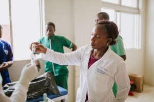ECP - Kiire Teddy - working on a patient