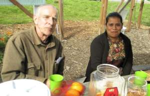Sharing Information with a Garden Volunteer