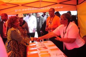 Raising awareness at Trade Fair Zimbabwe
