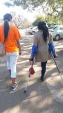 Mitchelle and Michelle door to door fundraising