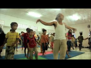 Teacher Fresh leading the dance class