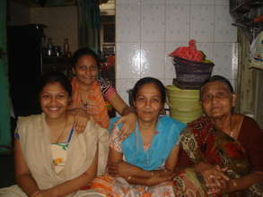 Sapna after reconciling with her family!