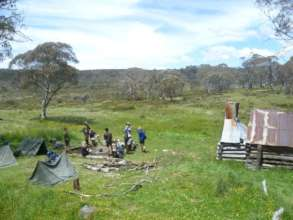 Young People camping in the high country