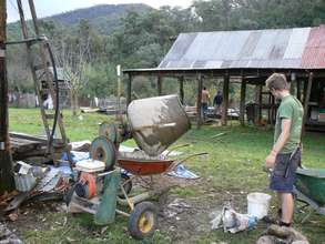 The old cement mixer at work