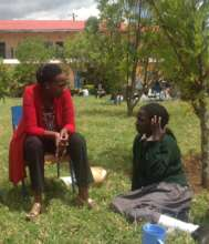 One on one with a beneficiary