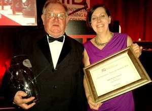 Accepting the Award-Pauline Power & Patrick Power