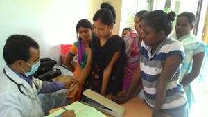 Medical camp for girls