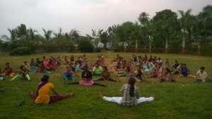 Yoga Session at Boisar Shelter Home