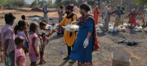 Distribution of Food Material Kits in Tribal Area