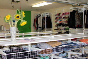 The Drop-In Center's donated clothes for youth.