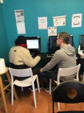 Volunteers provide resume building support