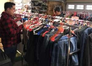 Volunteers organize Hope's Closet