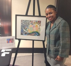Joi, with her beautiful artwork.