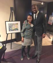 Joi with NFL player Vernon Davis!