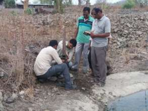 Team deploying camera traps