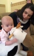 Sasha and her baby, Ksenia