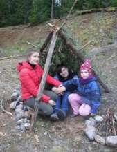 Zhenya, Sasha and Zhenya's young daughter